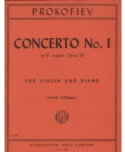Prokofiev, Serge - Concerto No. 1 In D Major Op. 19. For Violin. by International Music Co